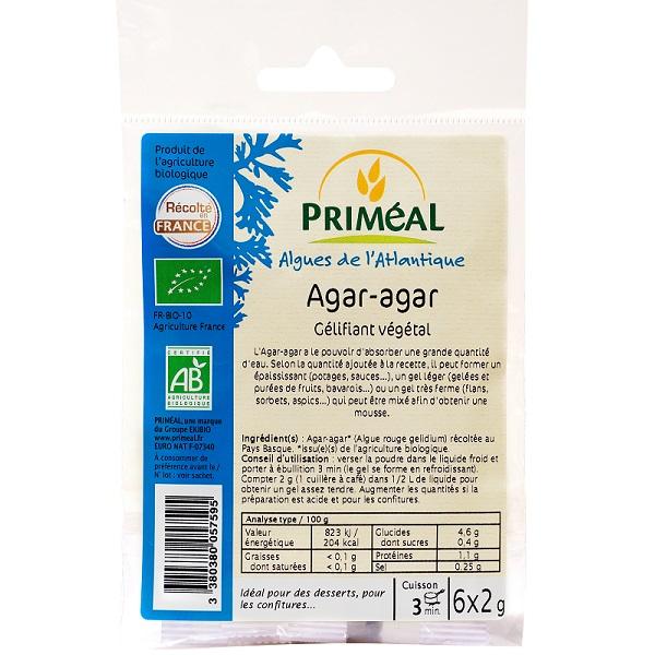 Agar Agar en poudre BIO, Priméal (6 x 2 g)