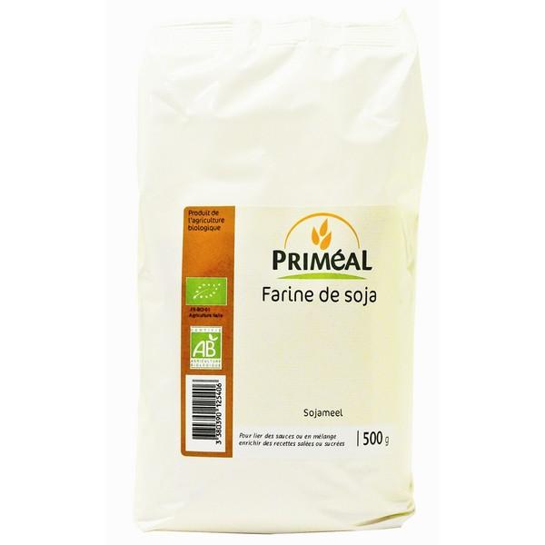 Farine de soja BIO, Priméal (500 g)