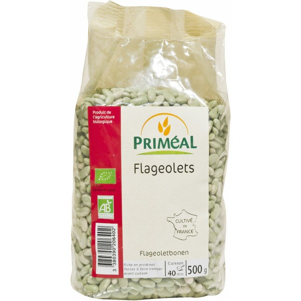 Flageolets BIO, Priméal (500 g)