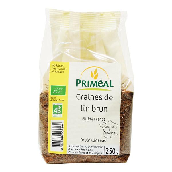 Graines de lin brun BIO, Priméal (250 g)