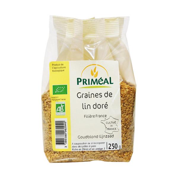 Graines de lin doré BIO, Priméal (250 g)