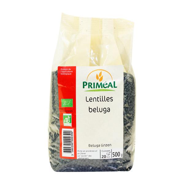 Lentilles Beluga BIO, Priméal (500 g)
