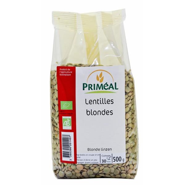 Lentilles blondes BIO, Priméal (500 g)
