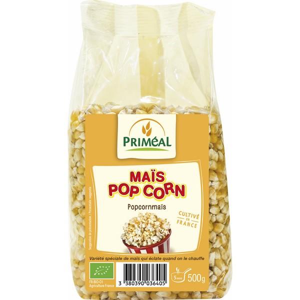 Maïs en grain à pop corn BIO, Priméal (500 g)