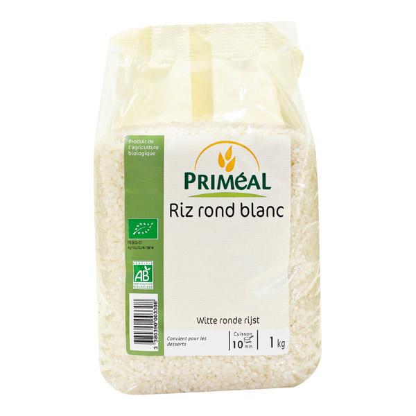 Riz rond blanc Bio Priméal (1 kg)