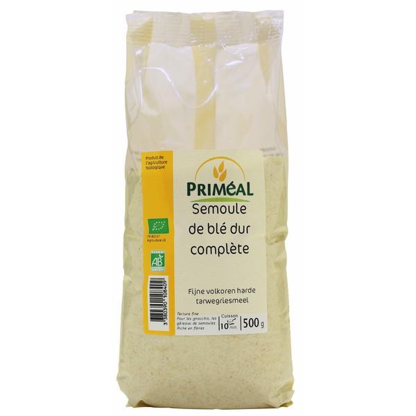 Semoule de blé dur complète BIO, Priméal (500 g)