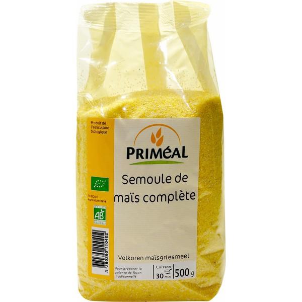 Semoule de maïs complète BIO, Priméal (500 g)