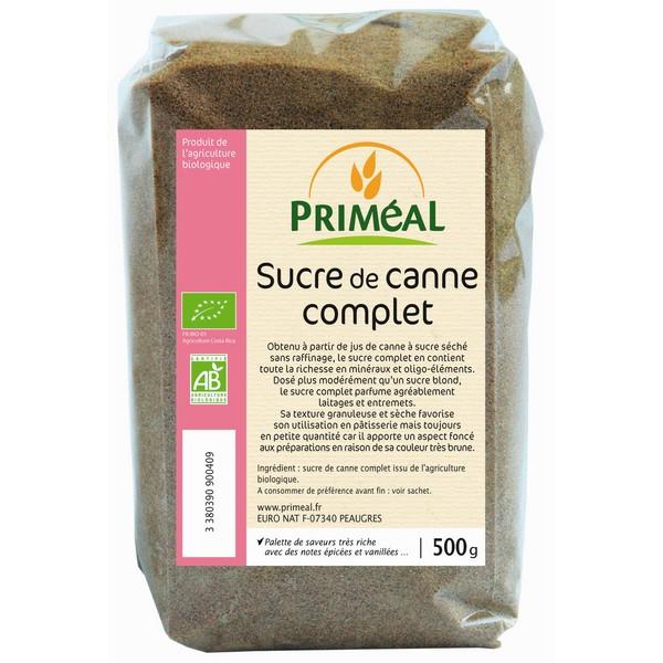Sucre de canne complet BIO, Priméal (500 g)