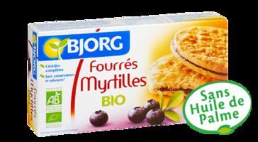 Biscuits fourrés à la myrtille BIO, Bjorg (175 g)