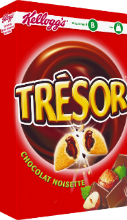 Céréales Trésor chocolat noisette, Kellogg's (375 g)