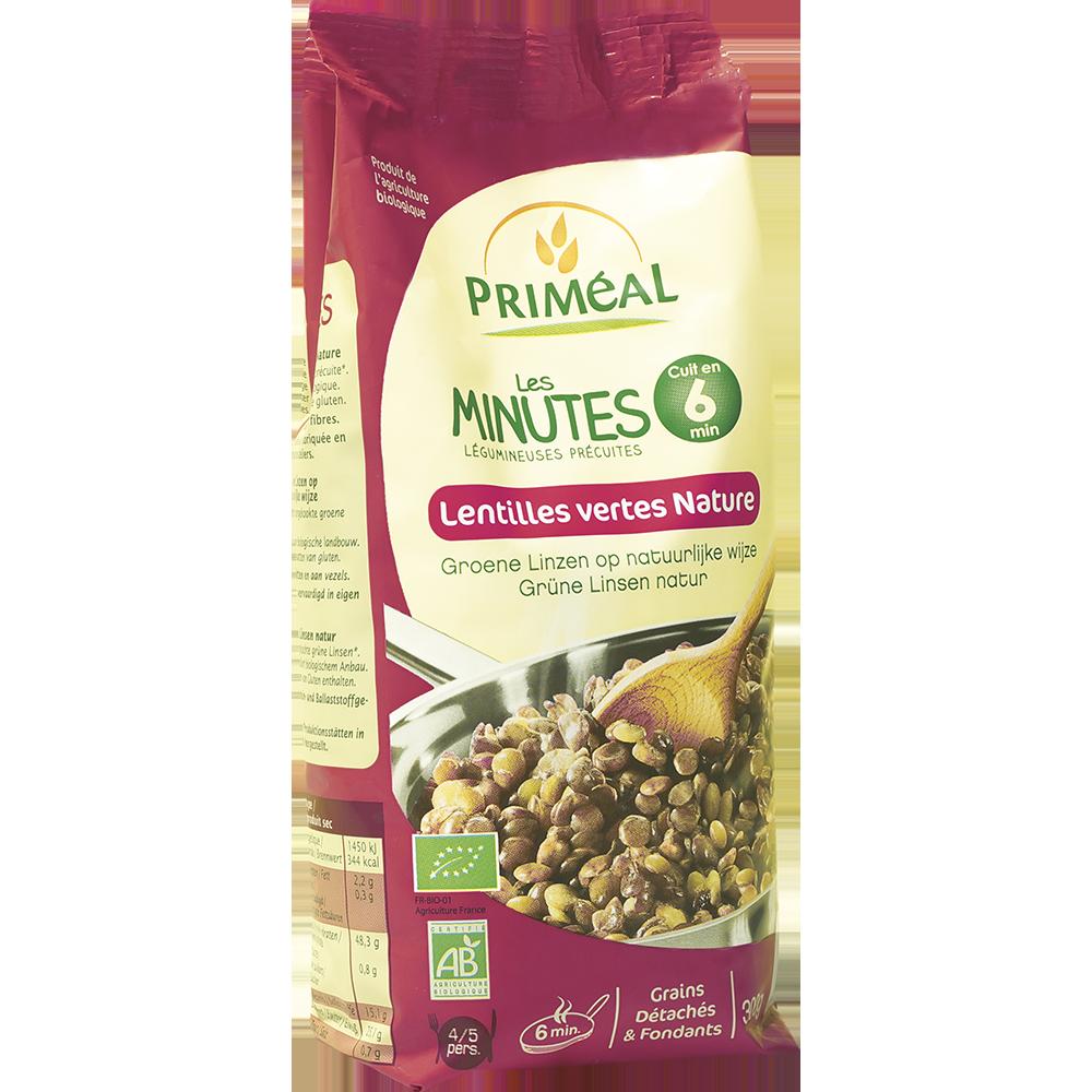 Lentilles vertes natures cuisson minutes BIO, Priméal (300 g)