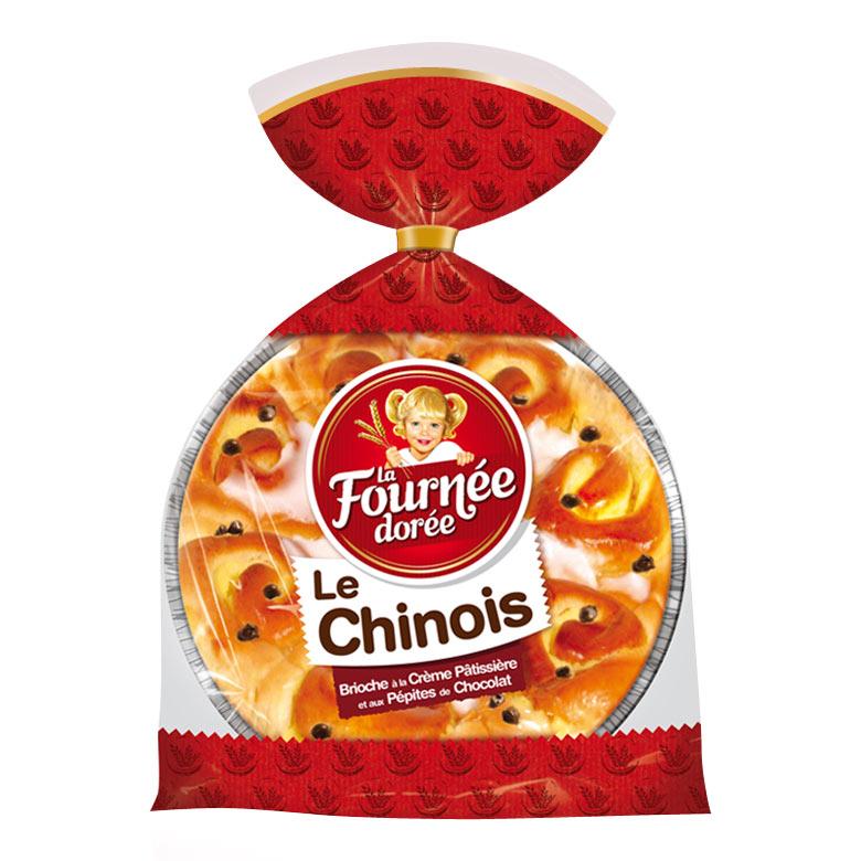 Chinois à la crème pâtissière et aux pépites de chocolat, La Fournée Dorée (500 g)