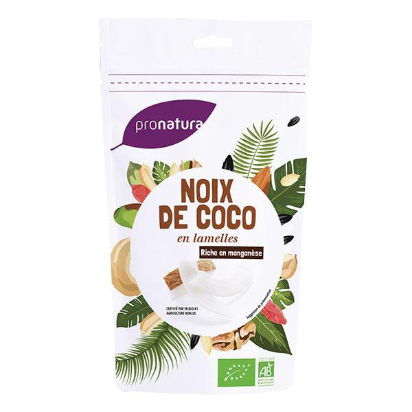 Noix de coco séchée lamelle Sri Lanka BIO, Pronatura (125 g)