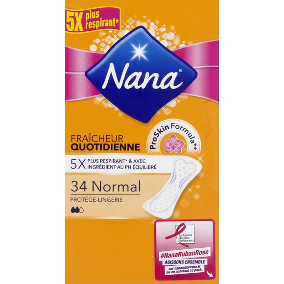 Protège-slip Fraicheur quotidienne, Nana (x 34)