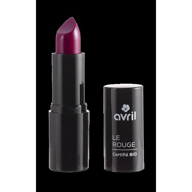 Rouge à lèvres prune n°600 certifié BIO, Avril