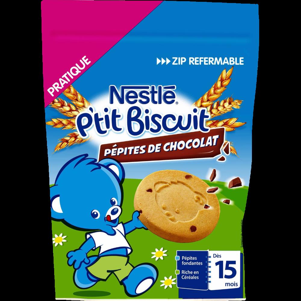 P'tit biscuit pépites chcocolat - dès 12 mois, Nestlé (150 g)