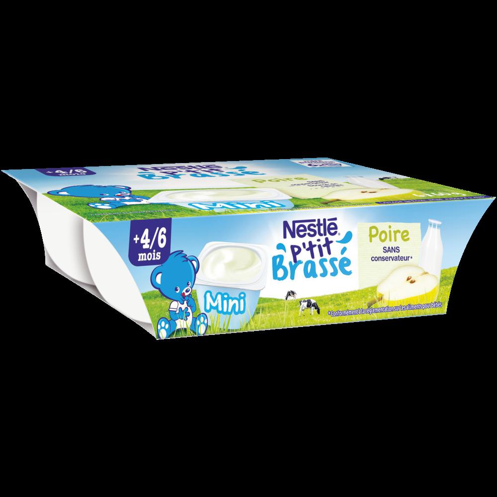 P'tit Brassé poire, dès 4/6 mois, Nestlé (6 x 60 g)