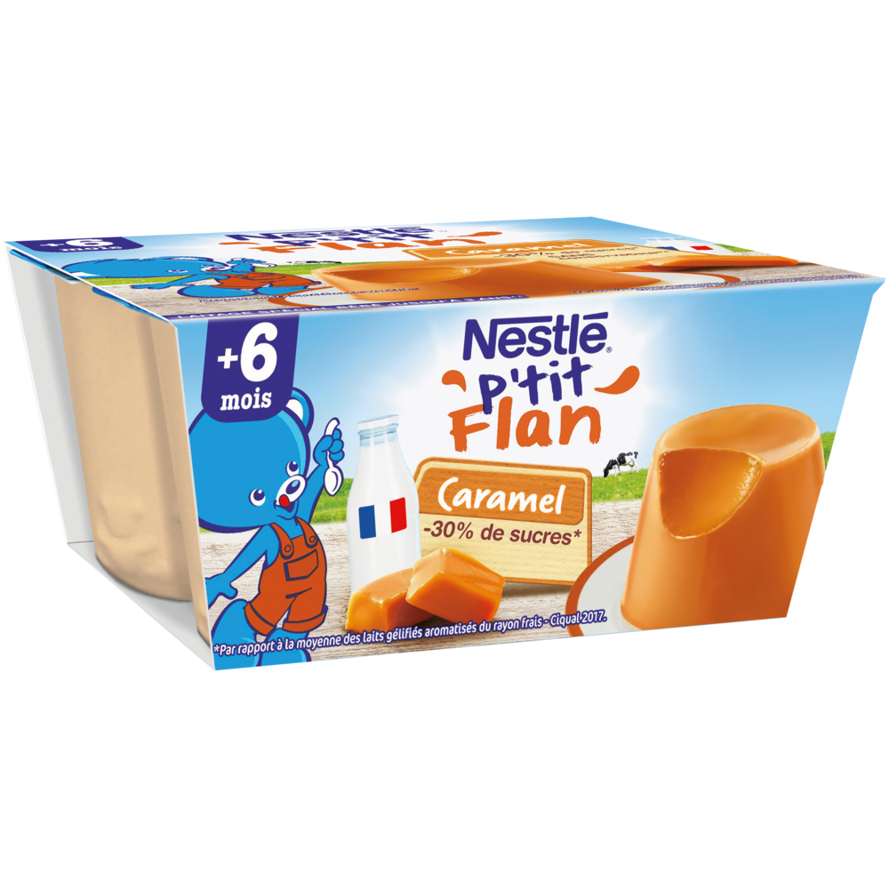 P'tit flan caramel - dès 6 mois, Nestlé (4 x 100 g)