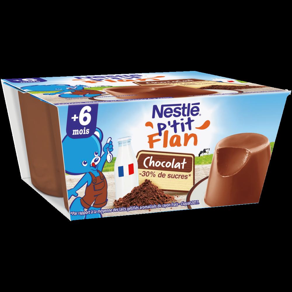 P'tit flan chocolat - dès 6 mois, Nestlé (4 x 100 g)