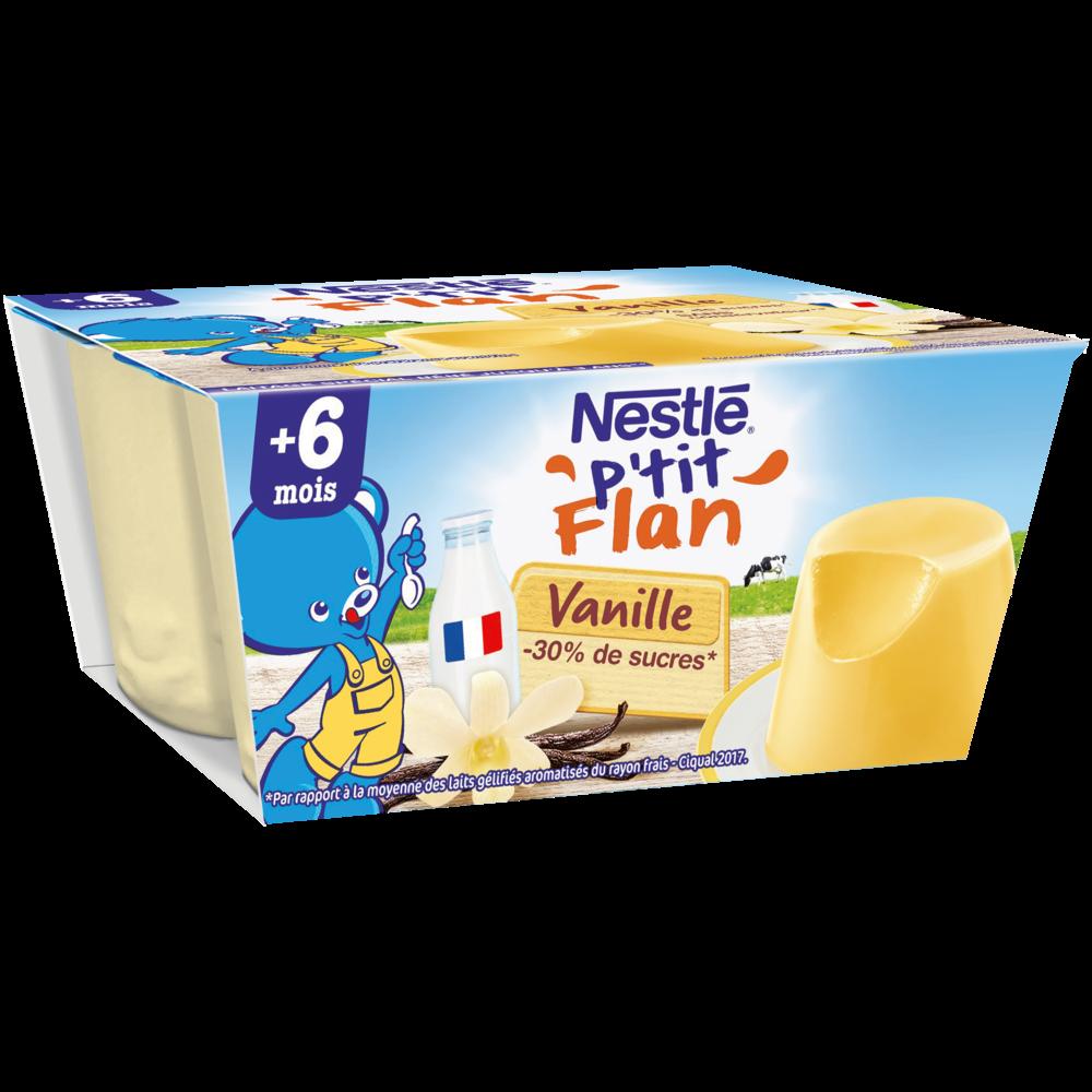 P'tit flan vanille - dès 6 mois, Nestlé (4 x 100 g)