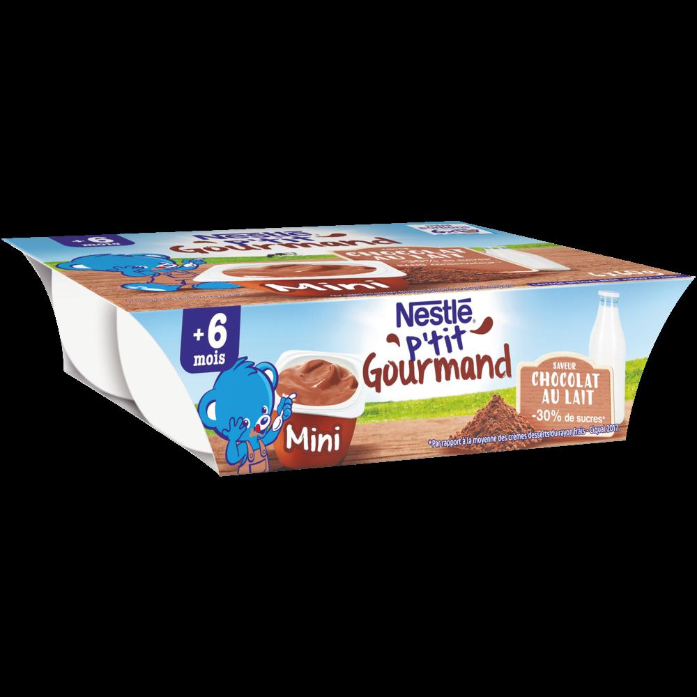 P'tit gourmand au chocolat au lait - dès 6 mois, Nestlé (6 x 60 g)
