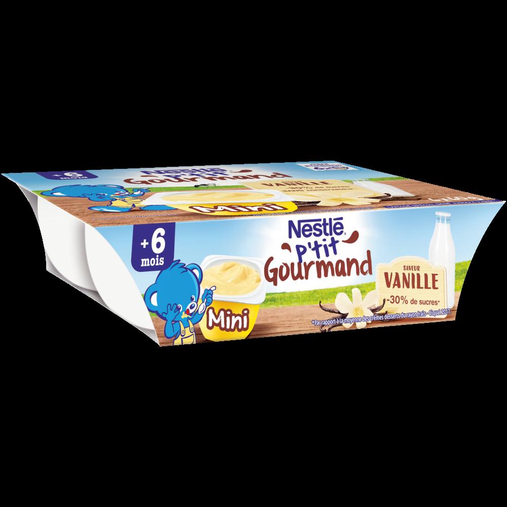 P'tit gourmand vanille - dès 6 mois, Nestlé (6 x 60 g)