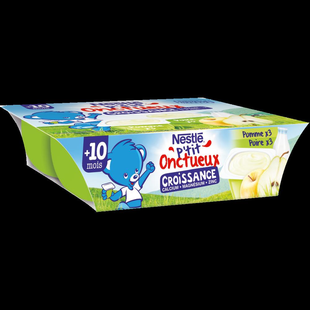 P'tit onctueux croissance pomme poire - plus de 10 mois, Nestlé (6 x 60 g)
