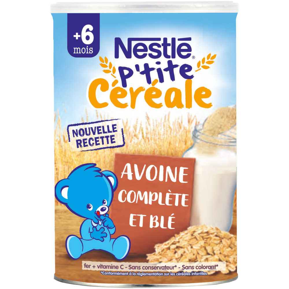 P'tite Céréale à l'avoine complète et au blé - dès 6 mois, Nestlé (400 g)