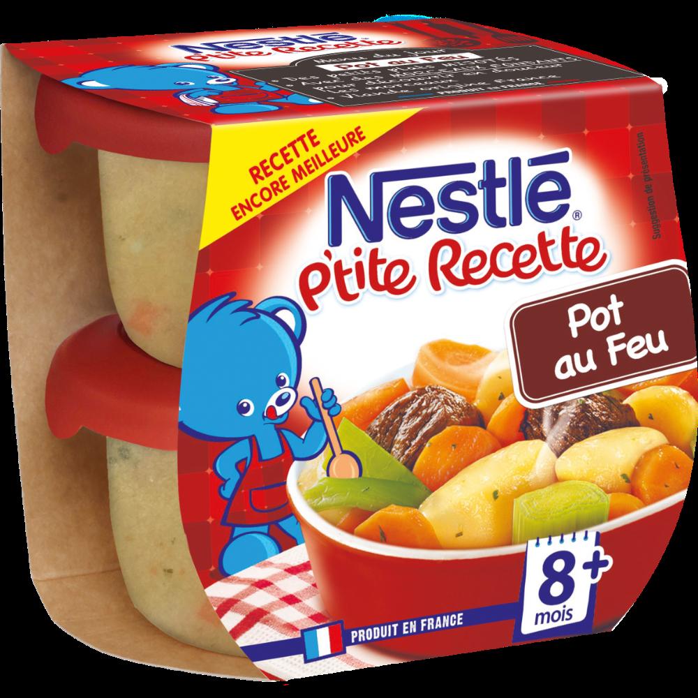 P'tite Recette pot au feu de boeuf - dès 8 mois, Neslé (2 x 200 g)