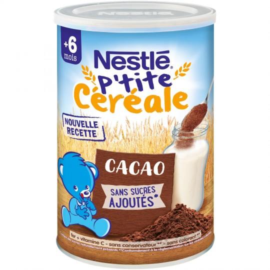 P'tite céréale cacao - dès 6 mois, Nestlé (400 g)