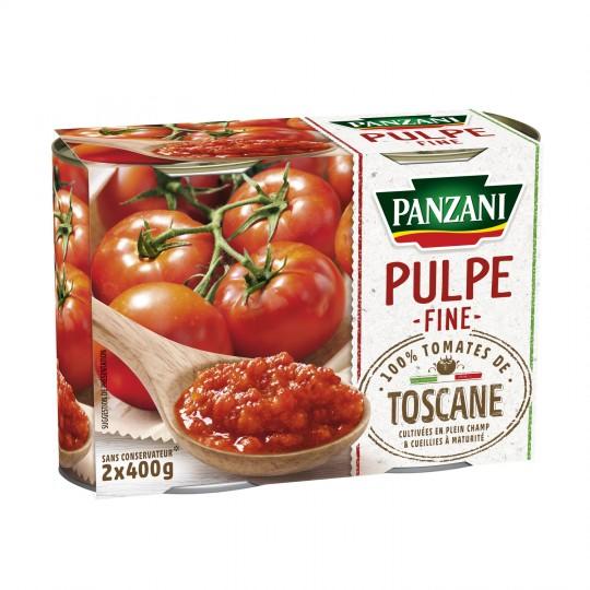 Pulpe fine de tomate, Panzani (2 x 400 g)