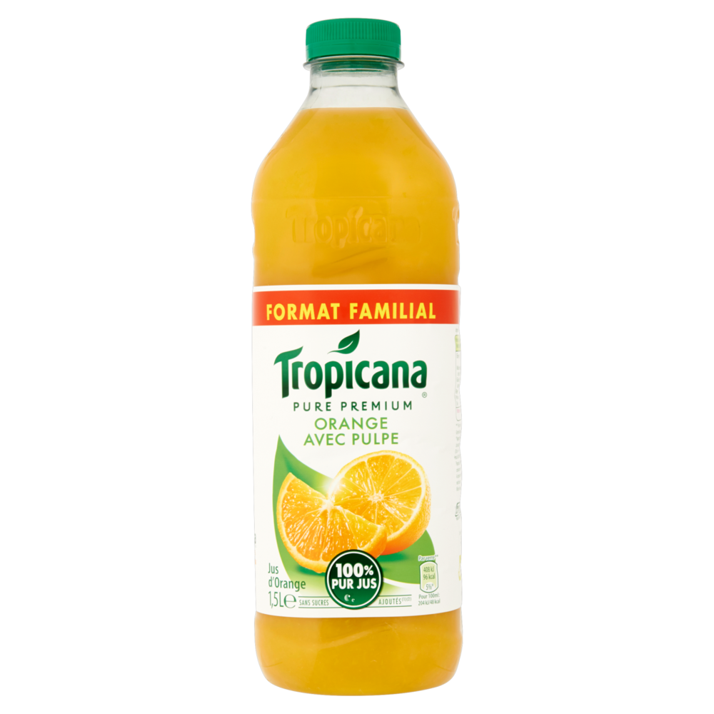 Pur jus d'orange pulpé Pure Premium Tropicana (1.5 L)