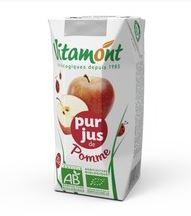 Pur jus de pomme BIO, Vitamont (20 cl)