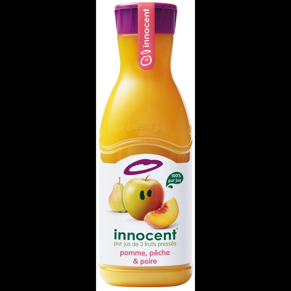Jus de pommes, poires, pêches frais, Innocent (900 ml)