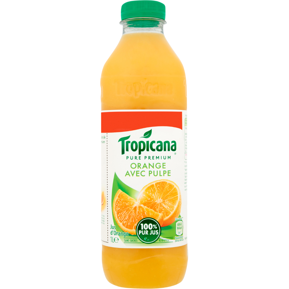 Jus d'orange Pure Premium avec pulpe, Tropicana (1 L)