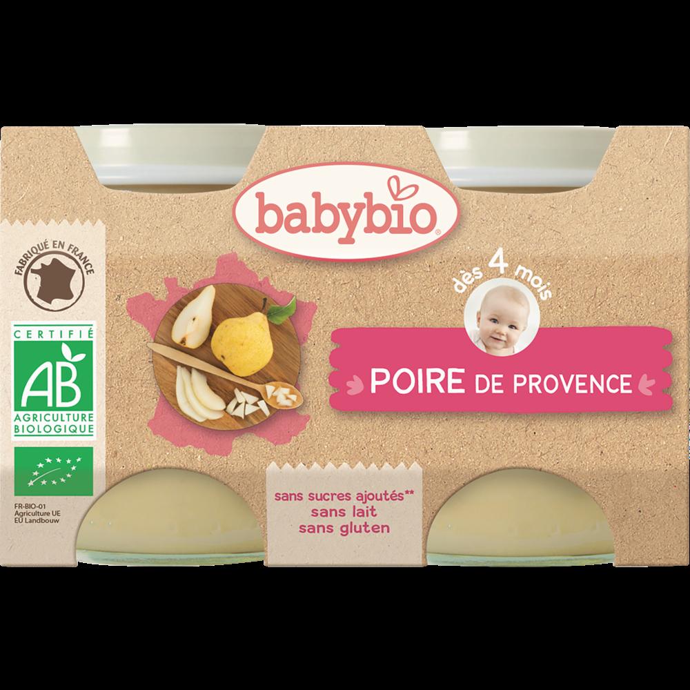 Petit pot poire de Provence BIO - dès 4 mois, Babybio (2 x 130 g)