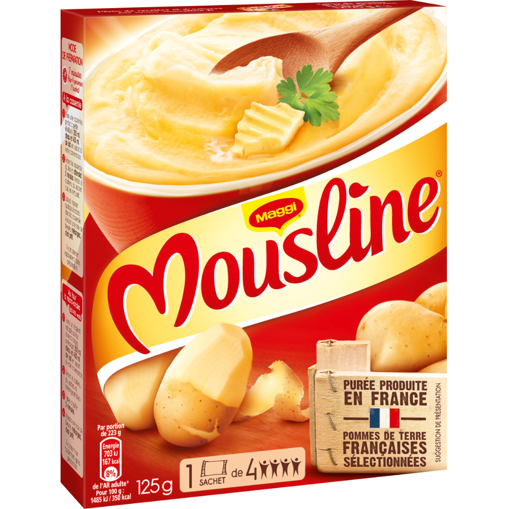 Purée nature Mousline, Maggi (125 g)