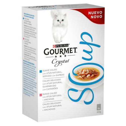 Soupe pour chat au thon, Gourmet Crystal (4 x 40 g)