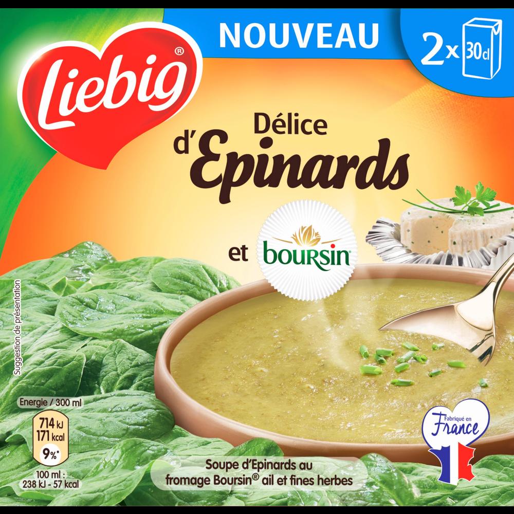 Soupe délice d'épinards et boursin Pursoup, Liebig (2 x 30 cl)