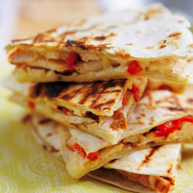 Quesadillas tortilla de maïs au poulet cheddar et poivron (x 3, 240 g)