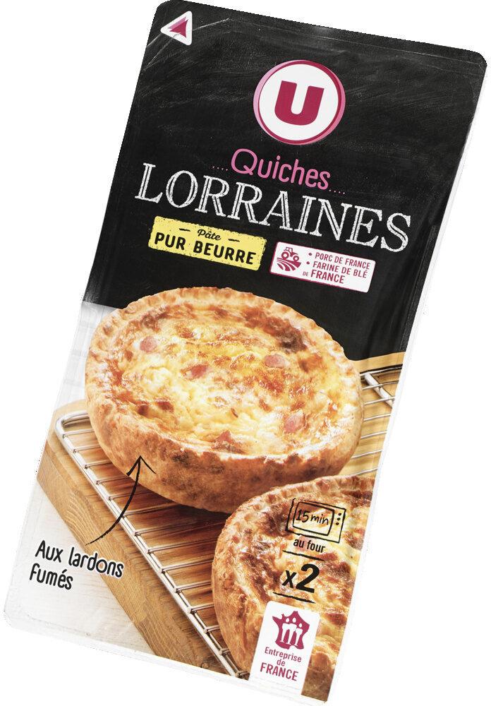 Quiche Lorraine pâte pur beurre, U (2 x 130 g)