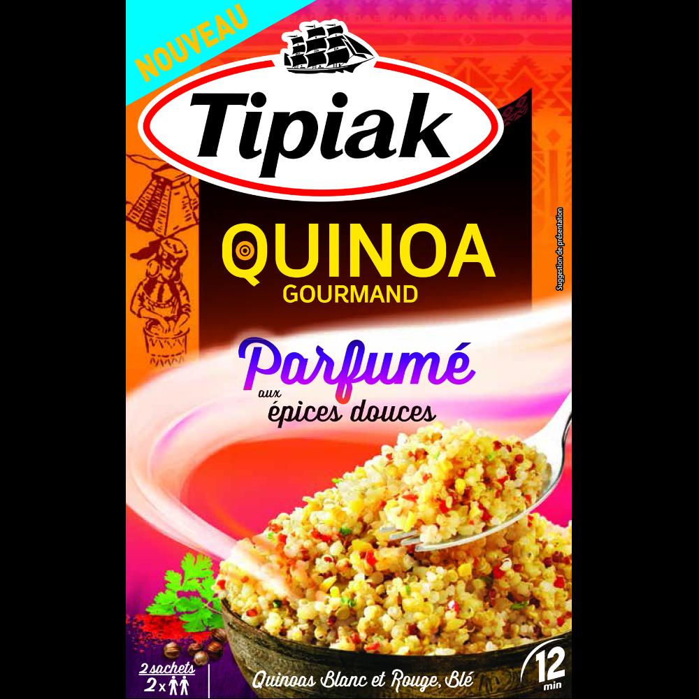 Quinoa gourmand parfumé aux épices douces, Tipiak (2 x 120 g)