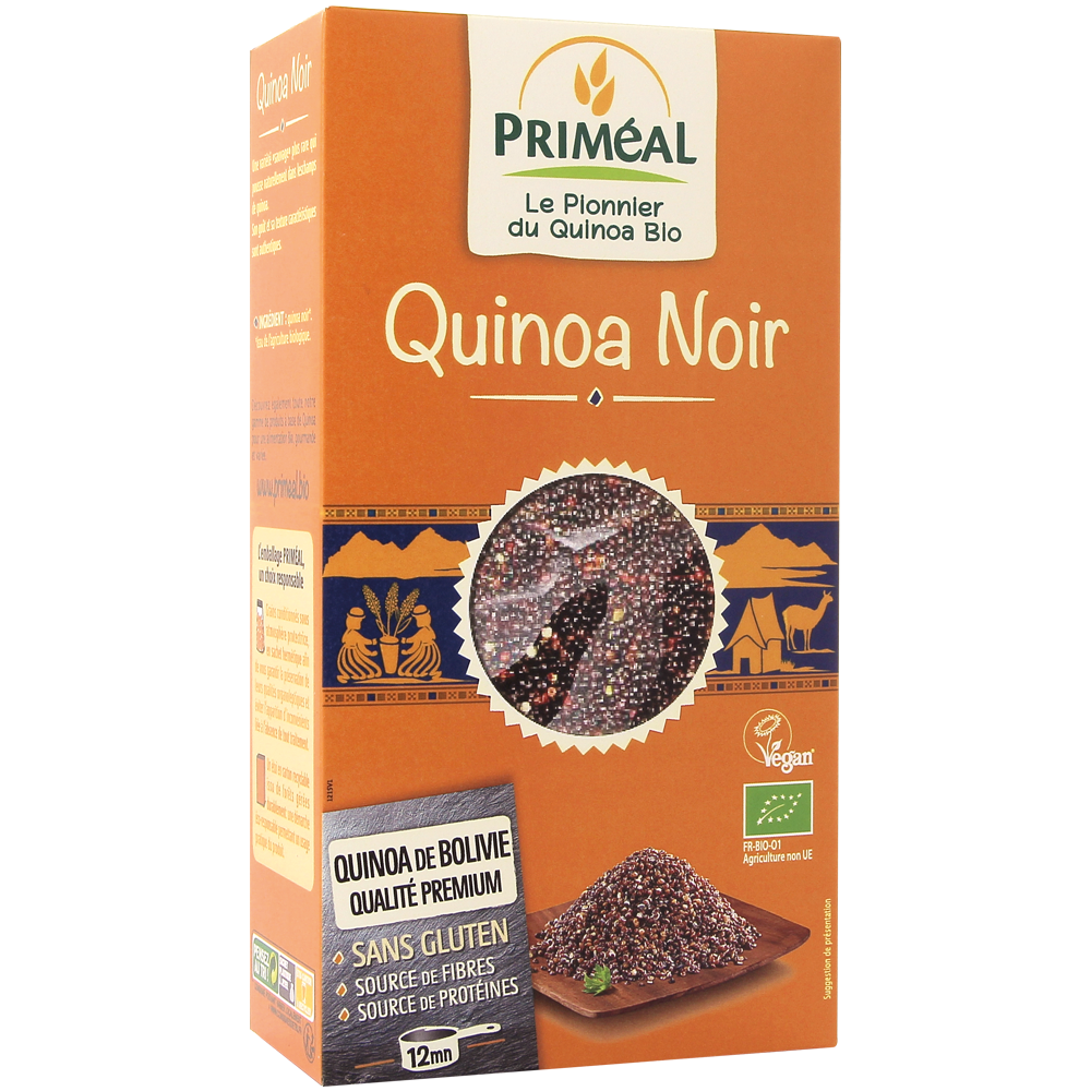 Quinoa noir BIO, Primeal (500 g)