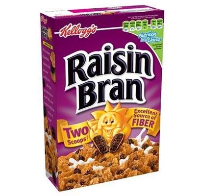 Céréales Raisin Bran, Kellogg's (388 g)
