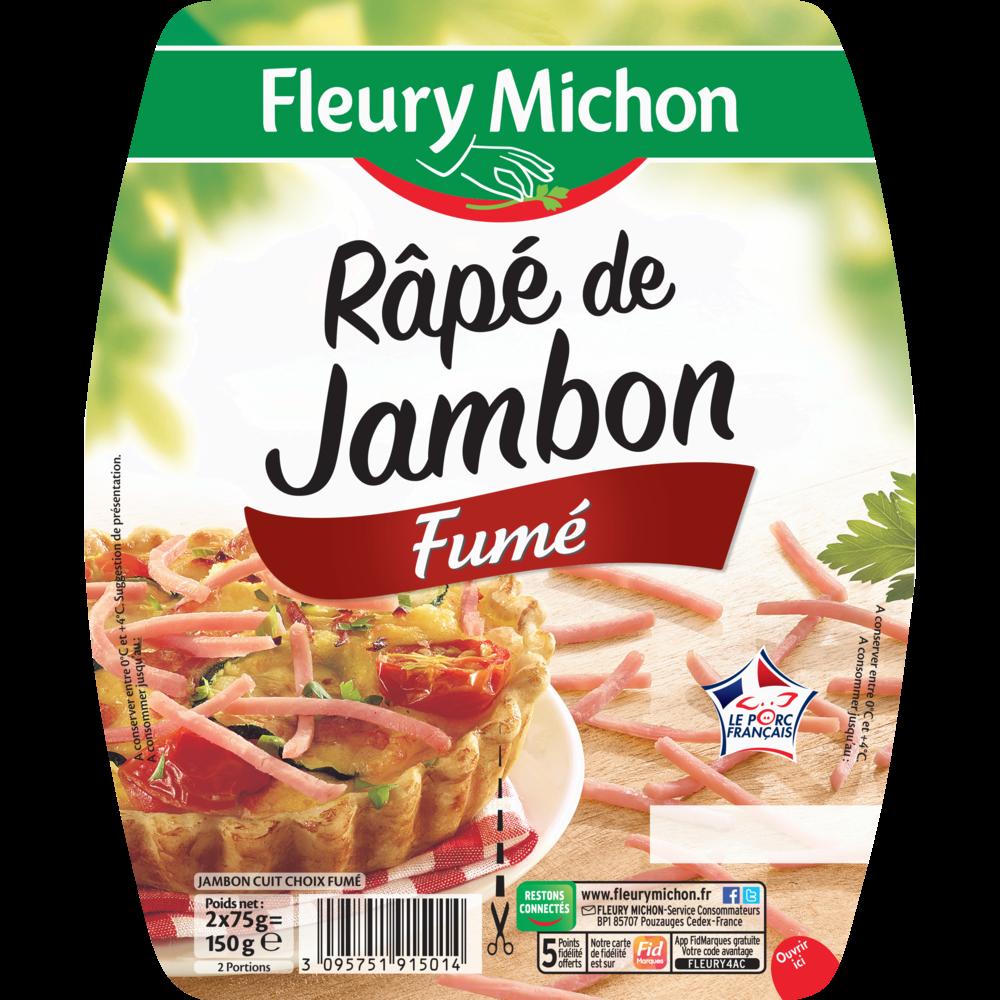 Râpé de jambon fumé, Fleury Michon (2 x 75 g)