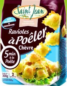 Ravioles à poêler au chèvre, Saint Jean (300 g)