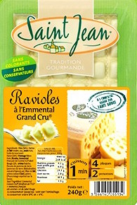 Ravioles à l'Emmental Grand Cru, Saint Jean (240 g)