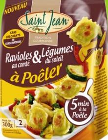 Ravioles à poêler au Comté et légumes du soleil, Saint Jean (300 g)