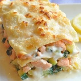 Lasagne au saumon et courgettes par La belle vie (400 g)