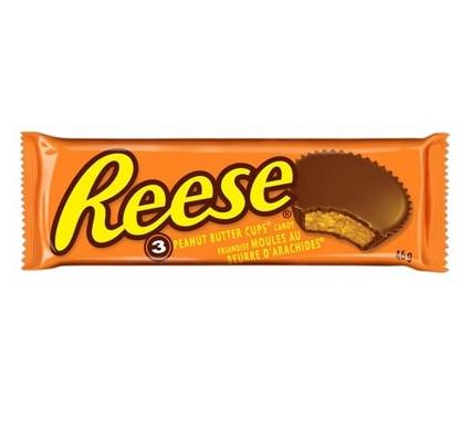 Bonbons au chocolat fourrés au beurre de cacahuètes, Reese's (x 3, 51 g)